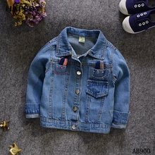 Fashion Kids Baby Cotton Blue Long Sleeve Buttons Denim Jacket