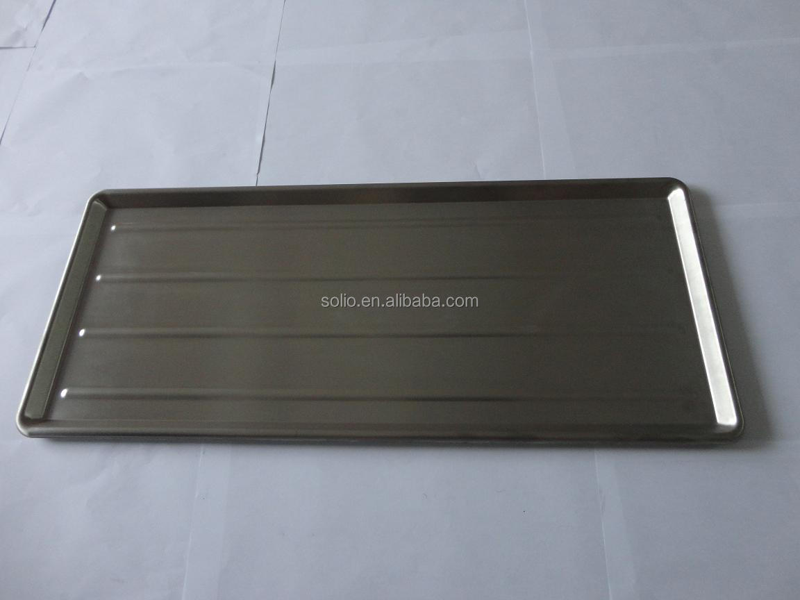 Polished aluminium square plate