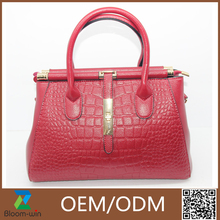 2016 newest large elegant office lady pu leather handbags