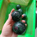 Natural episote stone balls ruby in zoisite stone spheres