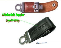 hot printing 2gb usb disk leather logo , 2gb leather usb flash drive key chain ,2gb usb memory leather factory sell