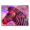 Zebra Art Painting Pencil Drawing Superimposed with Watercolor Texture Images Animal Artistic Photo Canvas Printing Wholesale