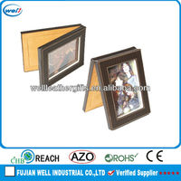 Newest folding leather frame photo