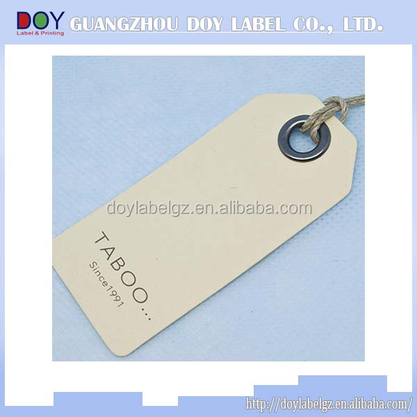 Factory price vintage garment hang tags