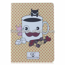 FL3259 Guangzhou 2013 new arrival stand coffee cup flip leather case cover for ipad air 5