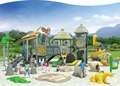 Kaiqi Group Ancient Tribe Series KQ60006A dinosaur popular amusement park plastic commercial outdoor playground equipment