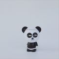 Chinese suplier custom mini action figure toy/cute panda action figure pvc toy OEM maker