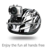 Mini Helmet waterproof action camera sport outdoor camcoder DV with touch screen