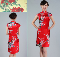 Brand new stock wholesale slim silk satin cheongsam Traditional Chinese dress