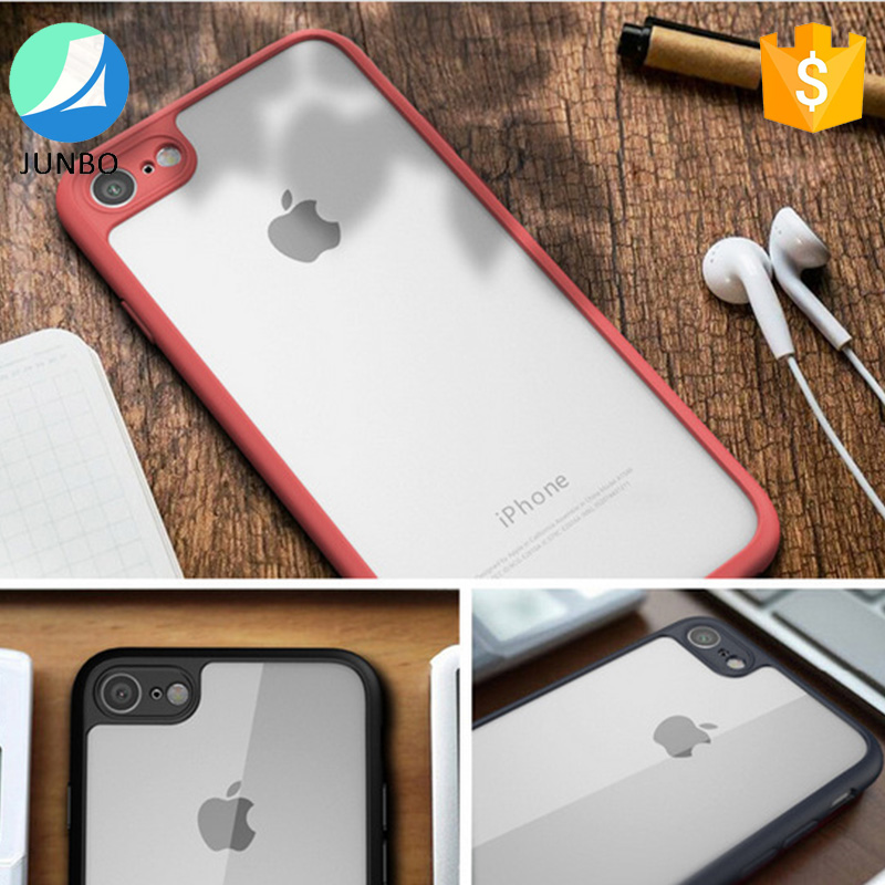 2017 new arrival cell phone case tpu bumper pc cover for iphone 7 case phone accessories case