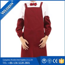 Restaurant wholesale working hotsell fancy kitchen apron with long sleeves