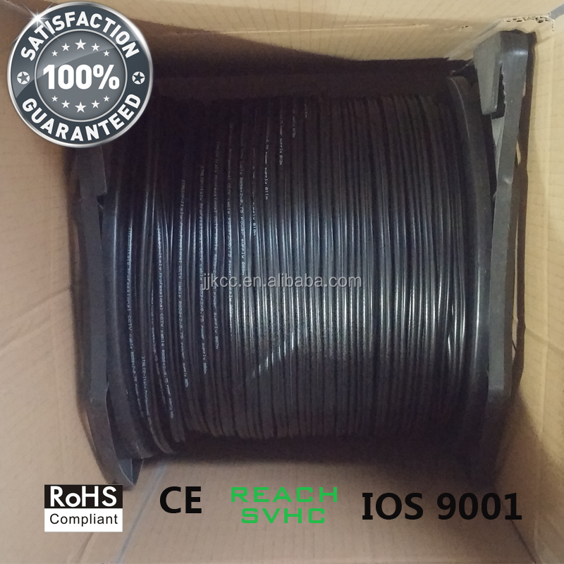 1000FT RG59 Siamese 20AWG + 2C/18AWG Power Cable CCTV Black Color
