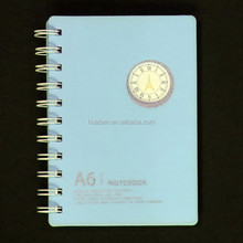 Top Selling Wholesale Custom fancy cardboard paper Plastic Cover Spiral notebook