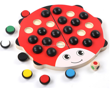 Creative Wooden Lovely Ladybug Color Memory Training Chess Toy