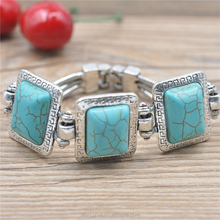 2017 New arrival unique design handmade agate alloy turquoise fashion jewelry