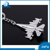 Custom promotional wholesale suovenir metal zinc alloy aircraft keychain