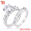 zircon pave setting diamond ring couple 925 sterling silver rings engagement stackable bands latest wedding ring designs