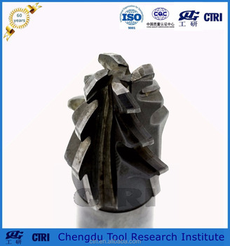 uncoating solid carbine fir-tree milling cutter for turbine root and turbine rotor