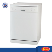 Full white small automatic freestanding dishwasher for apartments