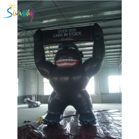 Factory Inflatable Advertising Product , Inflatable Model , Giant Inflatables Black Gorilla For Decoration