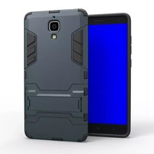 Iron-Bear Stand Rugged Hybrid Armor Cell Phone Case Cover For Xiaomi 4
