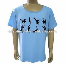 sky blue men Cool dance printed tshirt customized