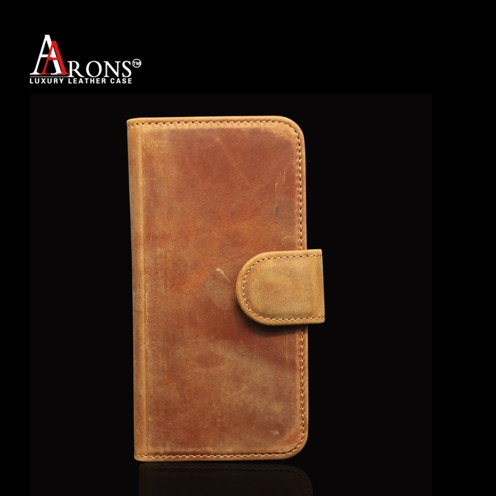 Vintage old wallet cell phone case leather for iphone6
