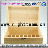 wooden box for e liquid bottles with 15ml 30ml Environment Friendly bottle box with divider
