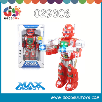 battery power big robot with light and music 360 degree rotation electrical robot fun B/O robot for adults 029306