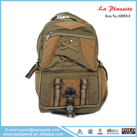 New product canvas bags backpack khaki brown army green custom canvas bag