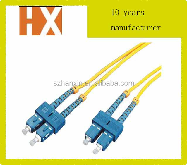 SC-SC duplex fiber optic patch cord/jumper 2.0mm/3.0mm duplex cable