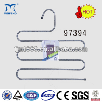 PVC Coated Metal Wire Coat Clothes Pants Hanger Trousers Rack