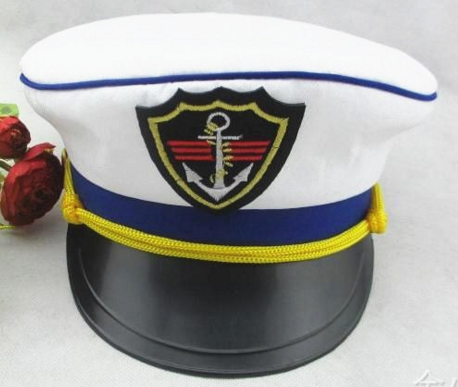 New Character Style Yacht Captain Skipper Sailor Boat Cap Hat Costume sailor hat