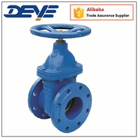Heavy Type DIN Cast Ductile Iron Gate Valve with metal bronze Brass seat