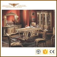 Retro French Provincial European Style Made In China Furniture Classic Luxury Dining Room Sets