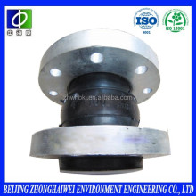 Floating flange rubber expansion coupling joint for pipe fittings