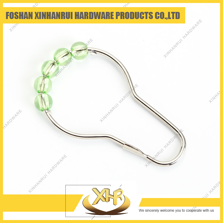Hot selling high quality green metal shower curtain track ring