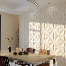 Durable Living Room TV Background Interior Decorative Vinyl Wallpanel Embossed 3D White Wall Panel