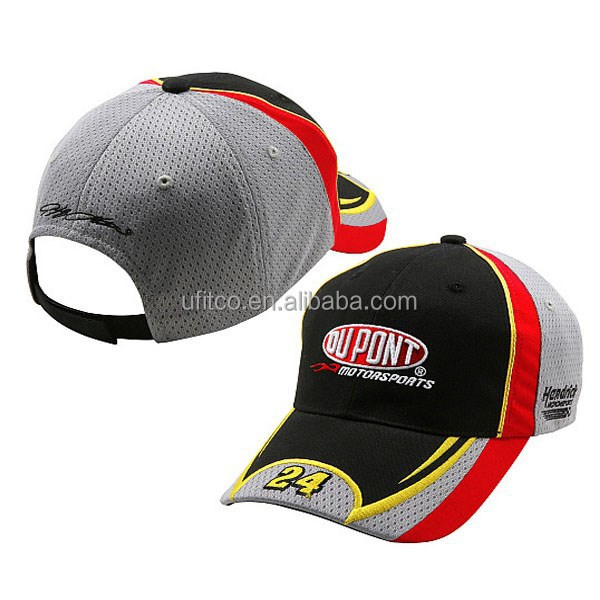 multi colors mesh and cotton fabric combine cool race cap