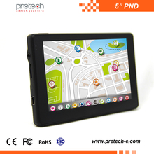 Hottest fashionable high accuracy 5 inch GPS navigation android pnd OEM portable rockchip3126 1+4GB
