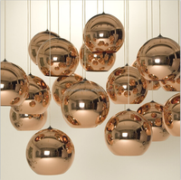 Large Glass Ball Copper Modern Pendant Lamp For Decoration