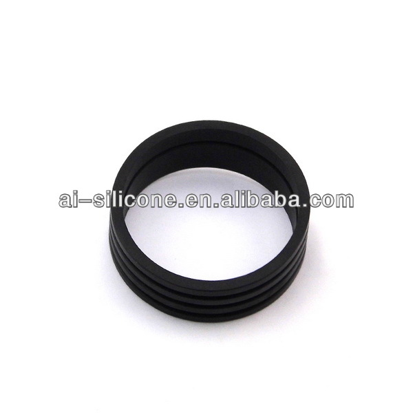 Black custom molded silicone rubber o ring, custom molded silicone rubber o ring