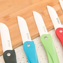 kitchen portable ceramic knife pocket folding fruit knife