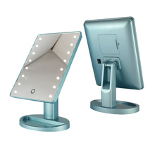 New design makeup mirror with led light and led table mirrors with touch screen sensor switch for light up plastic mirror