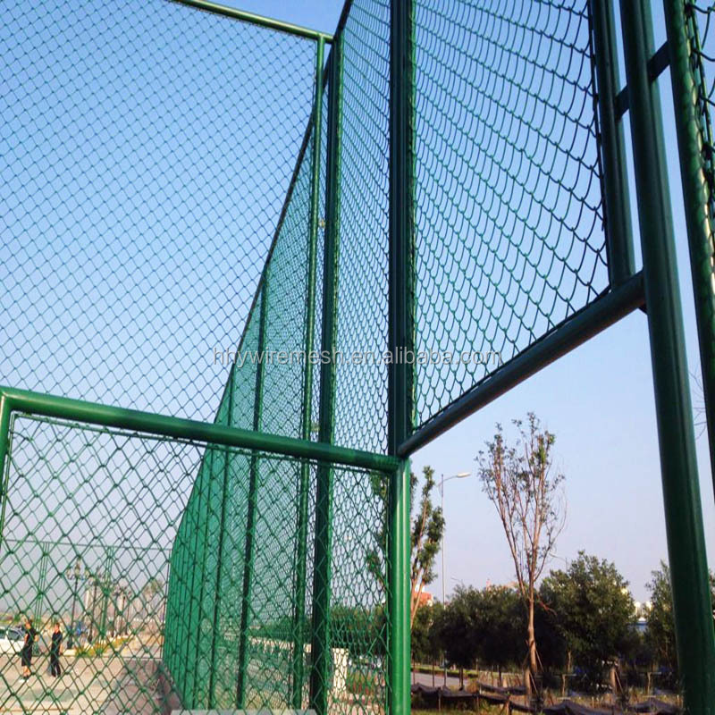 Tennis court fence netting basketball chain link
