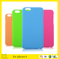 rubber coating back cover for iphone 6 rubberized case