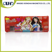 Newest design high quality cheap magnetic branded pencil case with sharpener