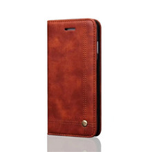 Wholesale brown wallet design cell phone pu leather case for iPhone X case