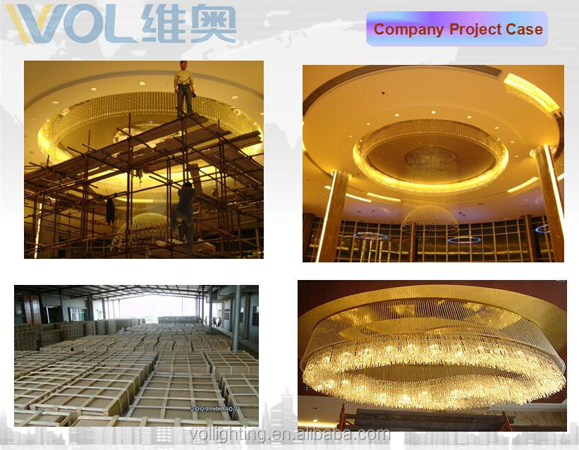 New hotel project light huge crystal chandelier ceiling lamp