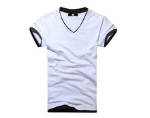 2016 New Men's Summer T-shirt Fashion V-neck T-shirt Top Tees Short Sleeve T-shirt
